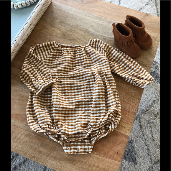 1f04d4cb399 Rylee and Cru Gingham Bubble Romper. M 5c015ae0194dad606c8630db